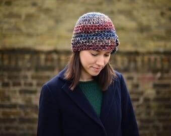 Women's Beanie Hat with Flower, Beanie Hat with Flower, Crochet Hat, Spring Fashion Accessories