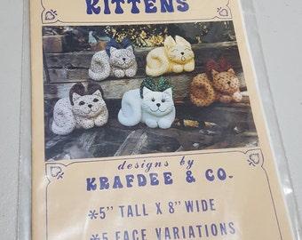 Calico Kittens Vintage Pattern - designed by Krafdee & Co,