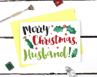 Christmas Card for Husband - Merry Christmas Husband - Husband Christmas Card - Gift for Husband