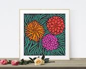 Flower Wall Art, Large Ar...