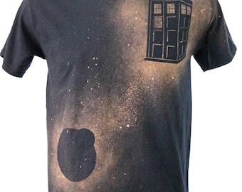 TARDIS Bleach Dye Tee Shirt
