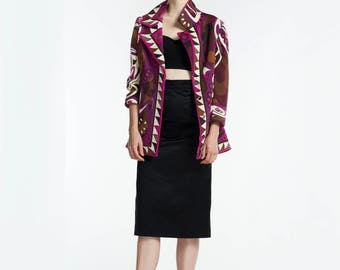 Vintage Emilio Pucci Jacket / 1960s Pucci Jacket / Mod Print / Designer Vintage / Made in Italy