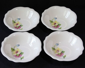 Set of 4 Homer Laughlin, Virginia Rose, Fruit/Dessert Bowls