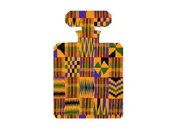 Adhesive Decal Kente Cloth Serengeti Pattern Perfume Bottle Sticker - Decal For Car, Decal For Yeti, Sticker For Yeti, Sticker For Car
