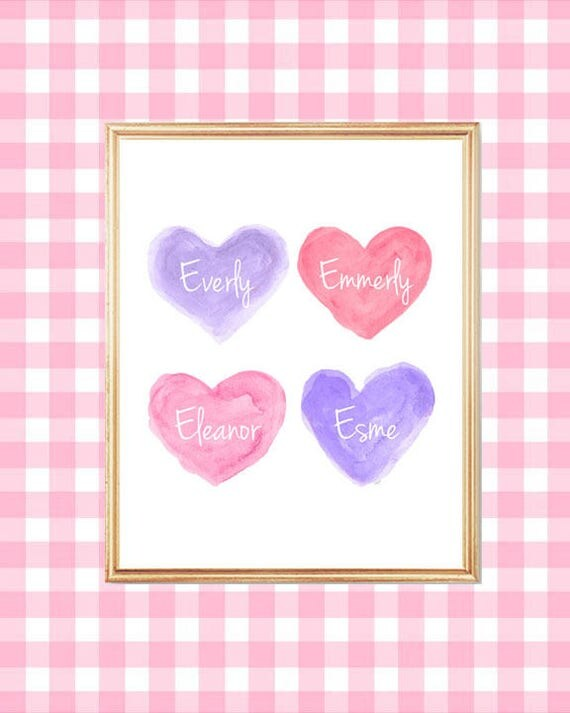 Best Friends Print, 8x10, Pink and Purple