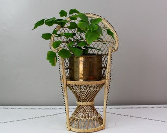 Tiny Wicker Chair/Plant Stand