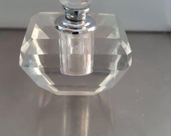 Vintage perfume /essential oil vessel /crystal glass/cut glass/crystal bottle/glass perfume