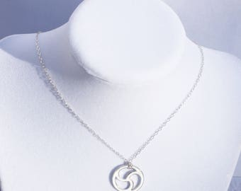Sterling Silver Triskele, BDSM Symbol, Necklace, BDSM Emblem Jewelry, Triskelion, Handmade, Celtic Style Jewellery.Day Collar
