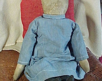 Antique Amish Doll,  Homemade Cloth, Rag  Doll, Mennonite, Provenance, Lawrence Co. PA