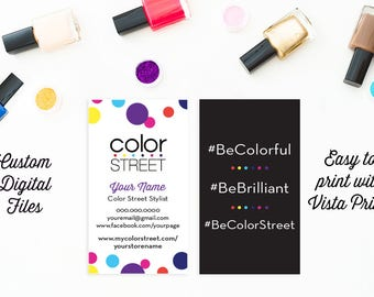 Color Street Business Card, Custom Digital File