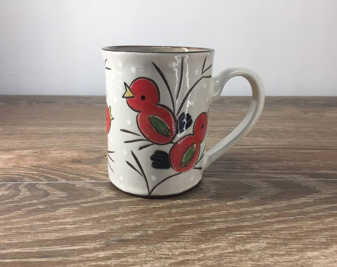 Featured listing image: Mug with Red Birds