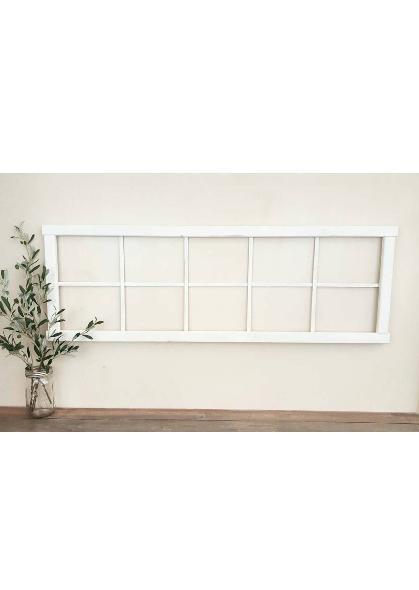 long faux window frame