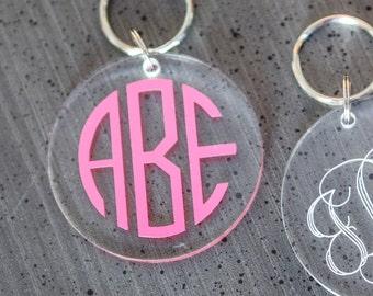 Monogrammed Acrylic Keychain