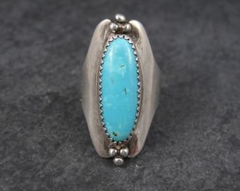 Large Vintage Southwestern Turquoise RIng Size 7
