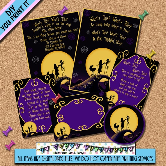 Nightmare Before Christmas Birthday Party: Nightmare Before Christmas BABY SHOWER INVITATION Party