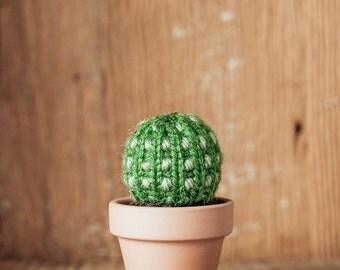 """3"""" Spotted Knitted Cactus - Miniature Cactus, Knit Cactus, Crochet Cactus, Amigurumi, cactus toy, plush cactus, stuffed cactus, cactus art"""