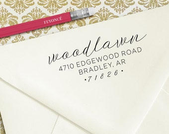 Woodlawn Address Stamp, Wedding Gift, Engagement Gift, Wedding Address Stamp, Wedding Invitation