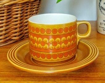 "Hornsea Made In England ""Saffron"" John Clappison Original Vintage 70s Tea Coffee Cup & Saucer **3 Available"