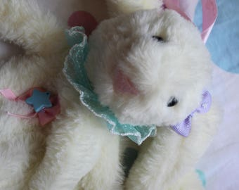 White Bunny clutch bag