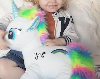 Personalised unicorn, Flower girl gift, Bridesmaid gift, birthday gift , for her, personalised Teddy, soft toy, unicorn, for her