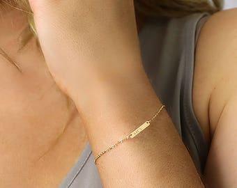 Bar Bracelet - Name Bracelet - Dainty Jewelry - Gold, Silver or Rose Gold
