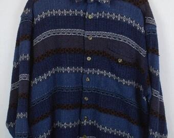 Vintage shirt, 90s clothing, shirt 90s, wool optic, long sleeves, oversized