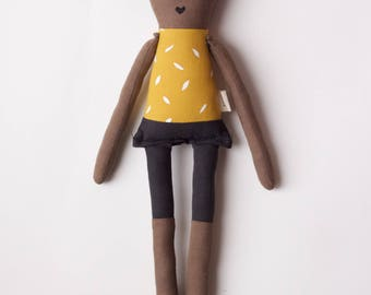 Rad Little Boy Cloth Doll: handmade with organic cotton