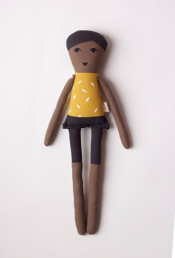 Rad Little Boy Cloth Doll: handmade with organic cotton