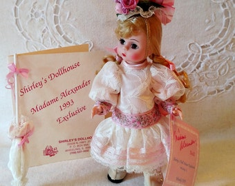 "Wendy/1893, LE Madame Alexander, Blonde 8"" Vintage Doll, 1893 Columbian Exhibition, Shirley's Dollhouse Exclusive, Box, COA & Wrist Tag"