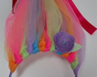 Troll Hair Headband, Trolls Party Headband, Troll Costume, Troll Birthday, Trolls Party,  Rainbow Trolls, Troll Hat, Troll Hair