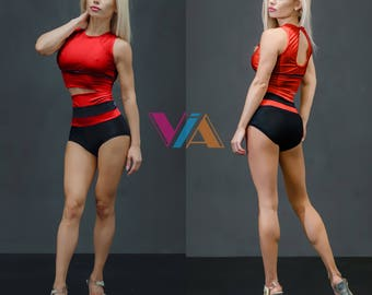 Pole Dance Top & Shorts 2pc VIA SECRET for Pole Dance | Gym | Yoga | Fitness | Dance | Booty | Sportswear | Activewear | Outfit | Twerk