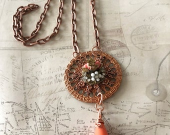 BoHo Style Necklace, Handmade Jewelry, Fall Jewelry