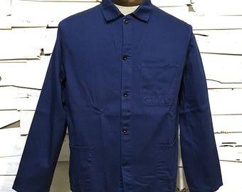 Vintage Work Jacket Work Dark Blue Chore Coat (OS-EWJ-17)