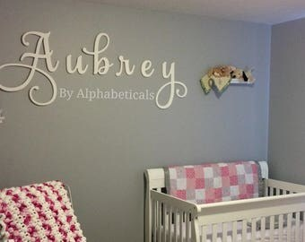 Nursery Name Sign Wooden Letters Wall Letters for Nursery Letters Wall Decor Wooden Signs Nursery Name Letters Large Script Alphabeticals