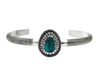 Sterling Silver Sierra Nevada Turquoise Cuff Bracelet