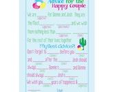 Advice for The Happy Couple, Taco bout Love, Advice Card, Digital File, Fiesta Invitation, Cactus Inivte, Flower Invite