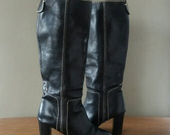 Chloé boots, designer boots, black boots, boots high heel, Boots UK 5, Boots EUR 38, Boots US 6.5, statement boots, Christmas gift, Chloe