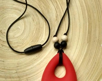 BPA free silicone necklace, dad's necklace