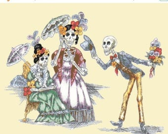 Stories of love between the dead - 321 x 251 stitches - Cross Stitch Pattern Pdf - INSTANT Download - B1286