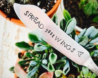 Stamped Butter Spreader  - Stamped Cheese Knife - Graduation Gift - Stamped Jam Spreader - Jam - Love Is Love - Vintage Spreader