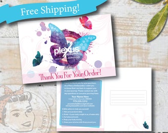 Plexus Thank you Postcard - Butterfly Kisses - Free Shipping