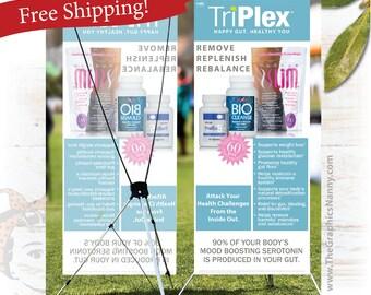 Plexus Event Banner - Tri-Plex Information Banner - FREE SHIPPING