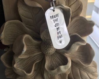 Single You're the pam to my jim/ jim to my pam the office keychain