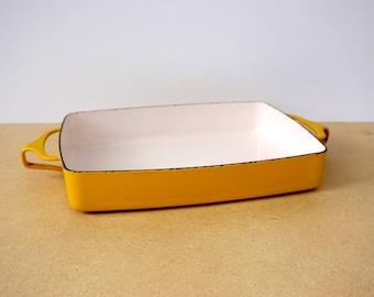 Yellow Dansk Enamel Casserole Baking Pan Kobenstyle