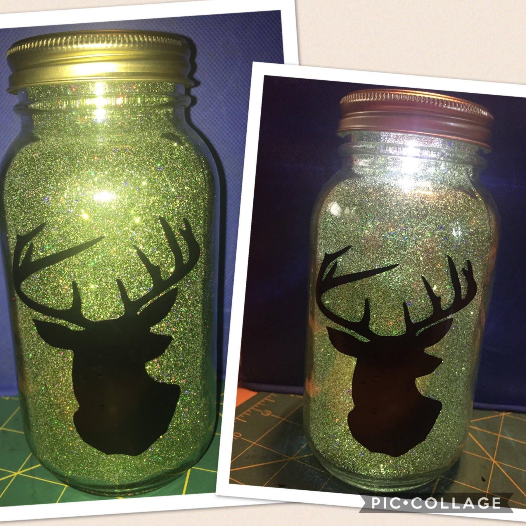 Deer Head Mason Jar Light Country Decor Home Decor