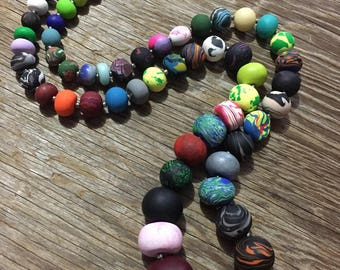 The Epic - Handmade Multicoloured Polymer Clay Statement Necklace