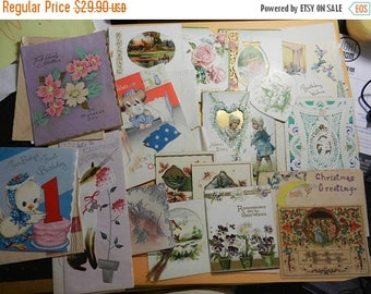 Inventory Sale 17 Vintage Christmas Cards Nice Ones