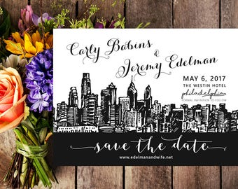 Philadelphia Save the Date | Philadelphia Wedding | Philadelphia Wedding Invitation | Philly Save the Date | Printable | City Save the Date