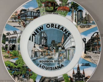 """Vintage New Orleans Collectible Souvenir 7"""" Plate Made in Japan"""