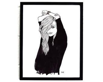 Fashion Wall Art / Fashion Illustration / Fashion Girl Print / Fashion Poster/ Illustration Print / Fashion Sketch / Fashion Girl Poster